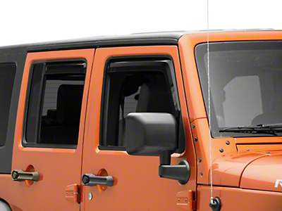 Putco Element Tinted Window Visors - Front & Rear (07-18 Wrangler JK 4 Door)
