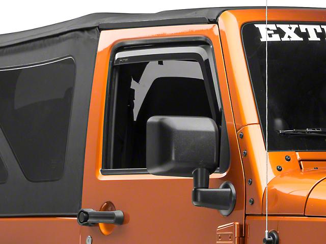 Element Tinted Window Visors; Front (07-18 Jeep Wrangler JK)
