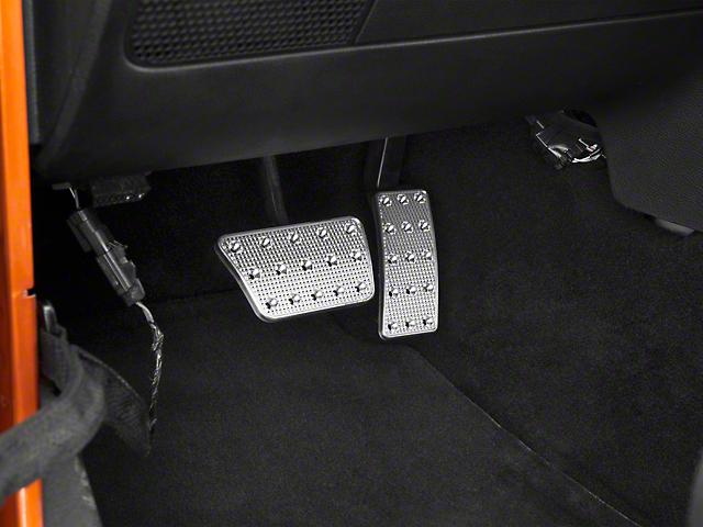 Liquid Pedal Covers; Track Design (07-18 Jeep Wrangler JK)