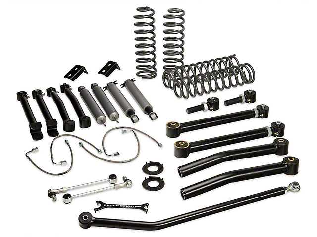 Rough Country 4 in. X-Series Lift Kit w/ Shocks (07-18 Wrangler JK 2 Door)