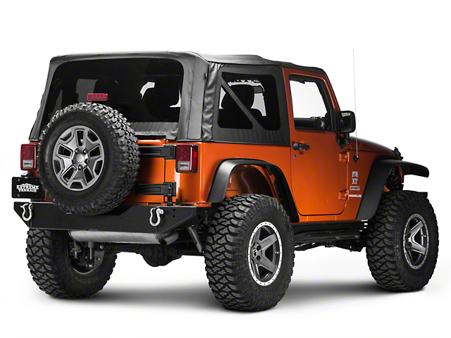 Jeep Wrangler Body Armor >> Body Armor 4x4 Wrangler Rear Bumper W Adjustable Pin Jk 2395 07 17