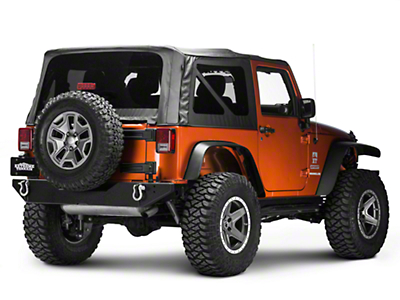 Body Armor 4x4 Rear Bumper w/ Adjustable Pin (07-18 Wrangler JK)