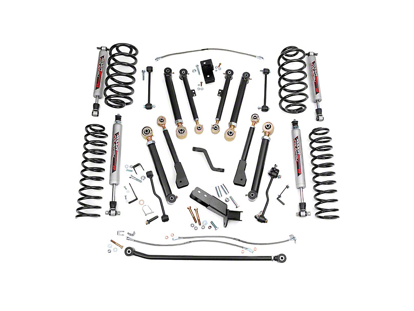 Rough Country 4 in. X-Series Lift Kit w/ Shocks (97-06 Jeep Wrangler TJ)