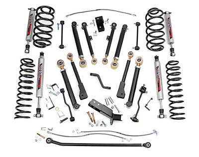 Rough Country 4 in. X-Series Lift Kit w/ Shocks (97-06 Wrangler TJ)