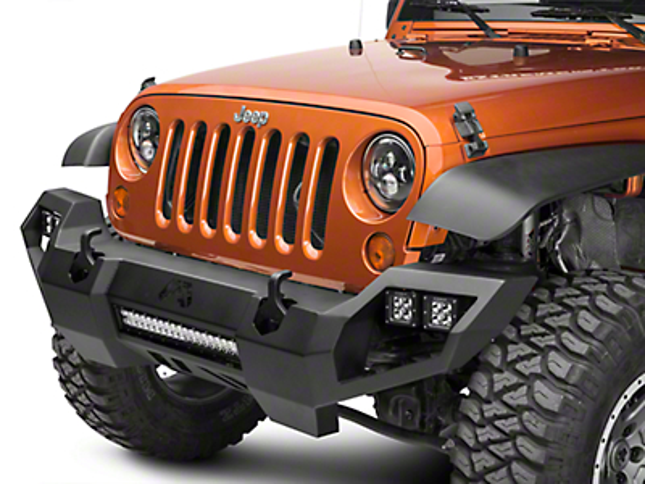 Fab Fours Vengeance Front Bumper w/ No Guard (07-18 Jeep Wrangler JK)