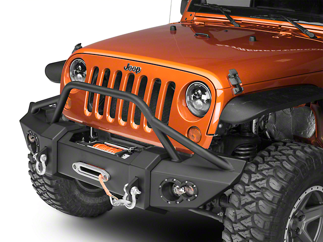 Fab Fours Lifestyle Winch Front Bumper w/ Guard (07-18 Jeep Wrangler JK)