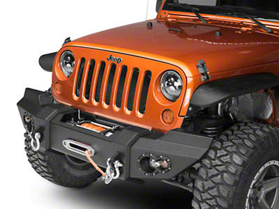 Fab Fours Lifestyle Winch Front Bumper w/ No Guard (07-18 Jeep Wrangler JK)
