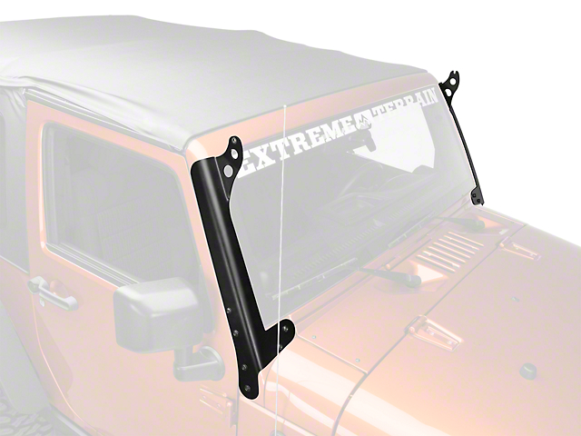 Hyline offroad jeep wrangler 50 in led light bar mounting brackets led light bar mounting brackets steel 07 18 jeep wrangler jk aloadofball Images