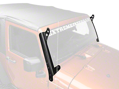Hyline Offroad 50 in. LED Light Bar Mounting Brackets - Steel (07-18 Jeep Wrangler JK)