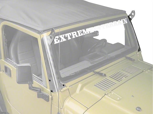 Hyline Offroad 50 Inch LED Light Bar Mounting Brackets; Aluminum (97-06 Jeep Wrangler TJ)
