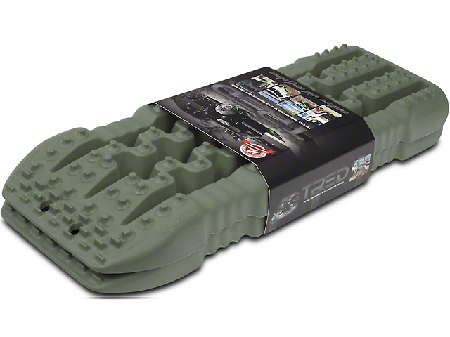 TRED 800 Traction Boards; Military Green