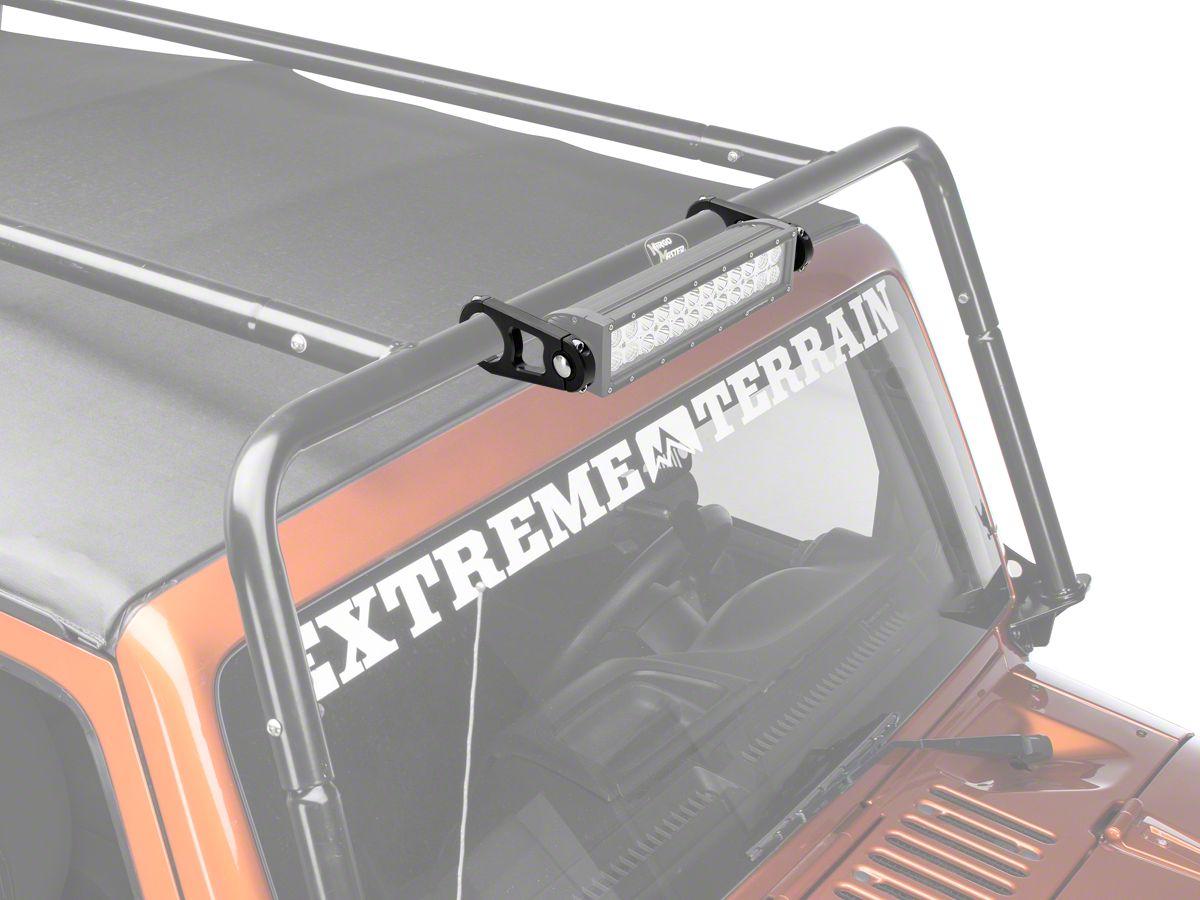 Light Bar Mount Kit For 2 In Diameter Tube 07 18 Jeep Wrangler Jk