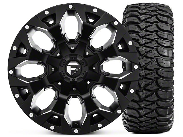 Fuel Wheels Jeep Wrangler Assault Black Machined Wheel 17x9 And
