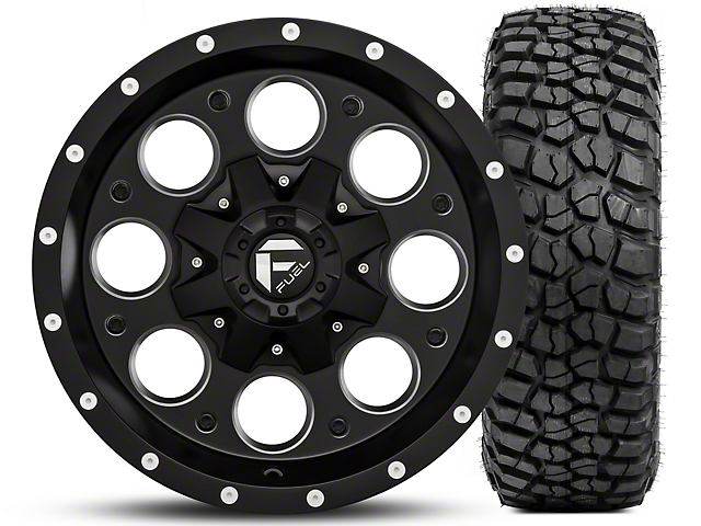 Jeep Jk Mud Terrain Tires 2007 2018 Wranglers Extremeterrain >> Fuel Wheels Jeep Wrangler Revolver Black/Milled 16x8 Wheel and BF Goodrich Mud Terrain T/A KM2 ...