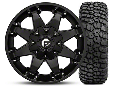 Fuel Wheels Octane Matte Black 17x8.5 and BF Goodrich Mud Terrain T/A KM2 305/70-17 Kit (07-18 Jeep Wrangler JK; 2018 Jeep Wrangler JL)