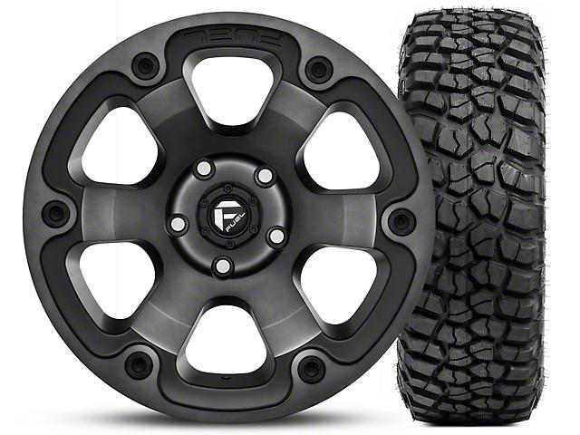 Fuel Wheels Jeep Wrangler Beast Black Machined Wheel 17x9 And Bf
