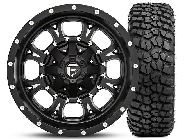 35x12 5r17 Tires Best 35x12 5x17 Tires For Trucks 4 Wheel Parts >> Fuel Wheels Krank Black Milled 17x9 And Bf Goodrich Mud Terrain T A Km2 35x12 50r17 Kit 07 18 Jeep Wrangler Jk 2018 Jeep Wrangler Jl