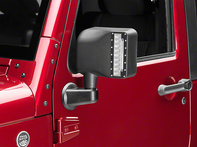 DV8 Offroad LED Mirror Housing with Turn Signal Option (07-18 Jeep Wrangler JK)