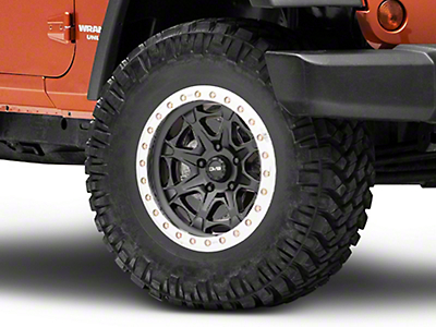 DV8 Off-Road Beadlock Matte Black Wheel - 17x8.5 (07-18 Jeep Wrangler JK; 2018 Jeep Wrangler JL)