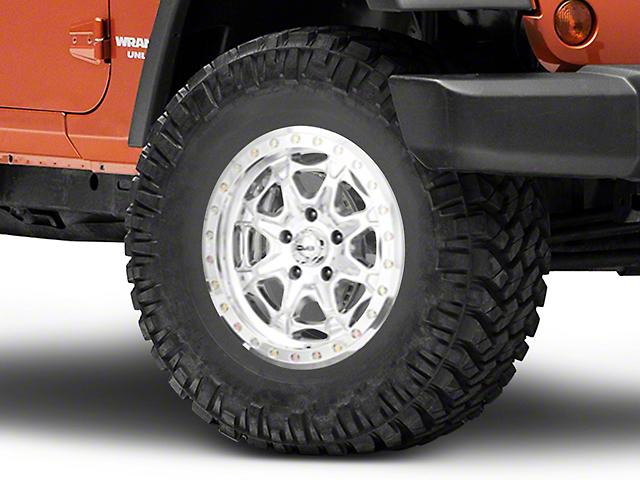 DV8 Offroad Beadlock Polished Wheel; 17x8.5 (07-18 Jeep Wrangler JK)