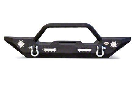 DV8 Off-Road LFS-7 Steel Mid Width Front Bumper w/ LED Lights (07-18 Jeep Wrangler JK)