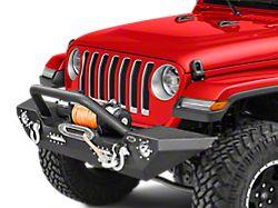 DV8 Off-Road LFS-7 Steel Mid Width Front Bumper w/ LED Lights (18-20 Jeep Wrangler JL)
