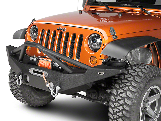 DV8 Off-Road FS-10 Steel Full Width Front Bumper with Skid Plate (07-18 Jeep Wrangler JK)