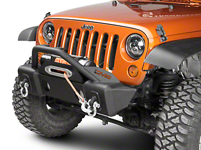 DV8 Off-Road FS-13 Hammer Forged Stubby Front Bumper w/ Fog Light Provisions (07-18 Jeep Wrangler JK)