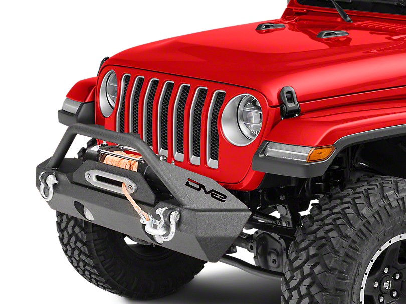 DV8 Off-Road FS-15 Hammer Forged Stubby Front Bumper w/ Fog Lights (2018 Wrangler JL)