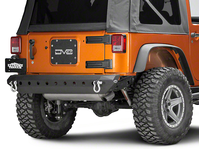 DV8 Off-Road RS-7 Hammer Forged Mid Width Rear Bumper (07-18 Jeep Wrangler JK)