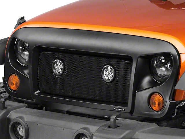 Rugged Ridge Spartan Mesh Grille Insert with 3.50-Inch LED Lights (07-18 Jeep Wrangler JK)