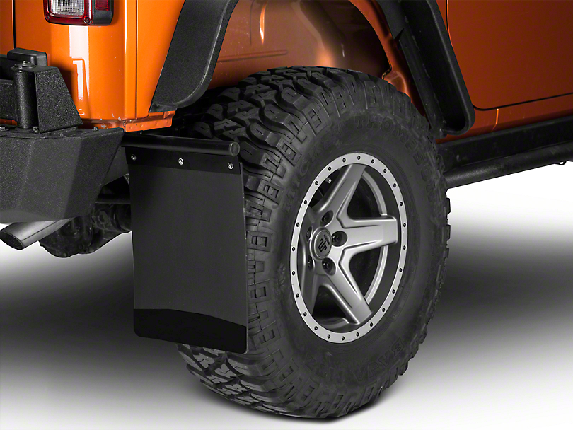 Husky Removable Pivoting Mud Flaps - Stainless Steel Weight (87-18 Wrangler YJ, TJ, JK & JL)