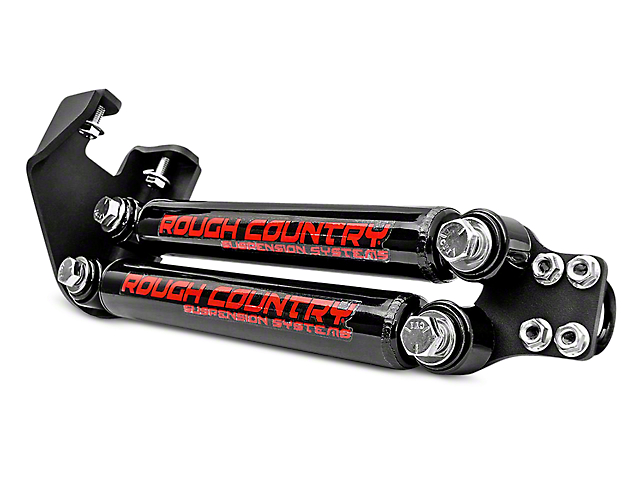 Rough Country Dual Steering Stabilizer for 4 to 6.50-Inch Lift (87-95 Jeep Wrangler YJ)