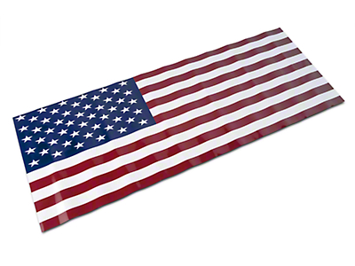Jeepgrillz American Flag Grille Overlay Decal (07-18 Wrangler JK)