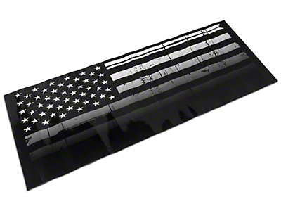 Jeepgrillz Distressed American Flag Grille Overlay Decal (07-18 Wrangler JK)
