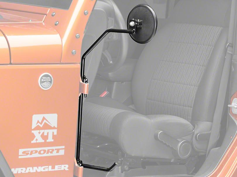 Kikbax Offroad Foot Pegs w/Mirrors (07-18 Jeep Wrangler JK)