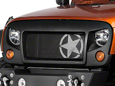 Rugged Ridge Spartan Grille w/ Star Insert (07-18 Jeep Wrangler JK)