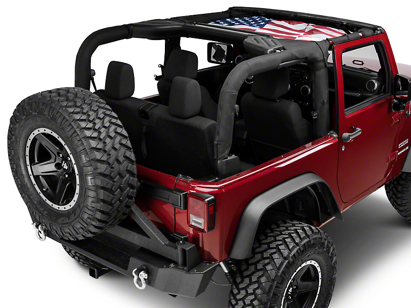 Rugged Ridge Front Hard Top Sun Shade - American Flag (07-18 Jeep Wrangler JK)