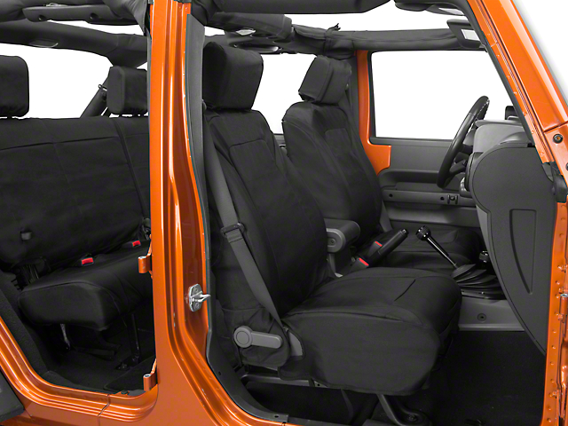 Rugged Ridge Elite Ballistic Seat Covers; Black (07-10 Jeep Wrangler JK)