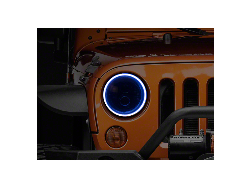 Oracle LED Waterproof Headlight Halo Conversion Kit - White (07-18 Jeep Wrangler JK)