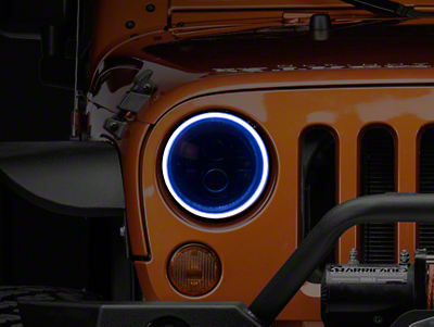 Oracle LED Waterproof Headlight Halo Conversion Kit - White (07-18 Wrangler JK)