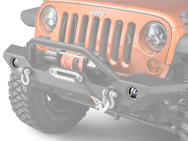 Oracle Waterproof LED Halo Fog Light Conversion Kit; Amber (07-18 Jeep Wrangler JK)