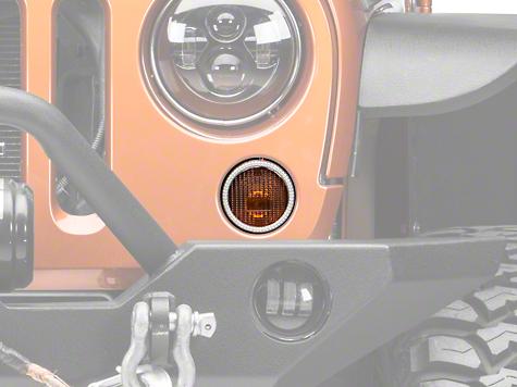 Oracle LED Waterproof Turn Signal Halo Conversion Kit - Amber (07-18 Wrangler JK)