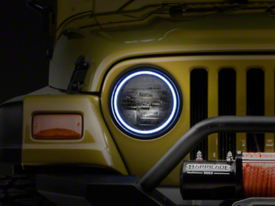 Oracle LED Waterproof Headlight Halo Kit - White (97-06 Wrangler TJ)