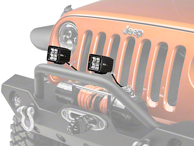 Hella ValueFit LED Light Cubes - Flood Beam - Pair (87-18 Wrangler YJ, TJ, JK & JL)
