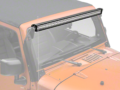 ZRoadz 50 in. Double Row Straight LED Light Bar - Spot/Flood Combo (87-18 Wrangler YJ, TJ, JK & JL)