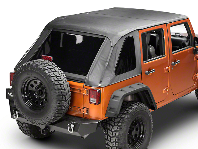 Barricade Fastback 2 In 1 Soft Top   Black Diamond (07 18 Jeep Wrangler JK  4 Door)