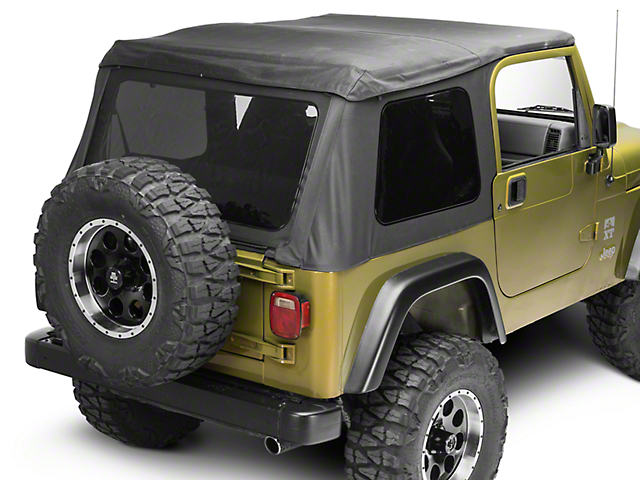 Barricade Frameless Soft Top   Black Diamond (97 06 Jeep Wrangler TJ,  Excluding Unlimited