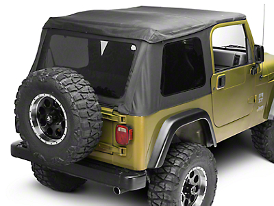 Barricade Frameless Soft Top - Black Diamond (97-06 Wrangler TJ, Excluding Unlimited)