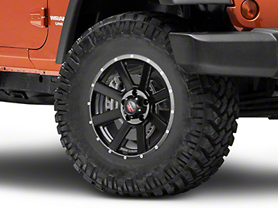 Havok Off-Road H-107 Matte Black Wheel - 17X9 (07-18 Wrangler JK)